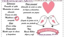 Restaurante Las Tres Chimeneas - Menú San Valentín