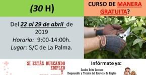 Curso de Capacitación: Mantenimiento de Parques y Jardines + Poda e Injerto de frutales