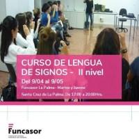 Curso de Lengua de Signos Española II nivel