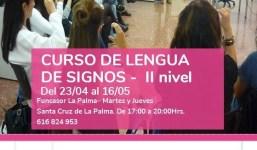 Curso de Lengua de Signos II nivel