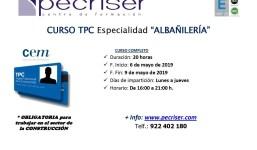 """Curso TPC 20 horas: Especialidad de """"Albañilería"""""""