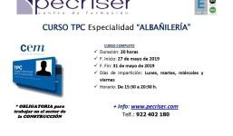 Tarjeta Profesional de la Construcción: Especialidad de Albañilería - 20 horas