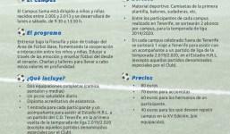 """Apúntate al """"XV Campus Suma"""" del Club Deportivo Tenerife tendrá en Breña Baja"""