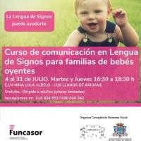 Curso de comunicación en lengua de signos para familias de bebés oyentes