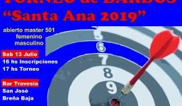"Torneo de Dardos ""Santa Ana 2019"""