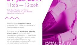 Invitación Acto-Presentación - Programa Cataliza - La Palma