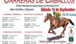 Carreras de Caballos en San Andrés y Sauces