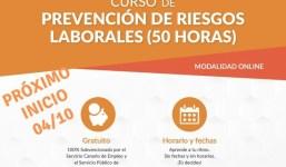 Curso gratuito online Prevención de Riesgos Laborales para personas ocupadas