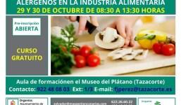 Curso de manipulador de alimentos y alérgenos en la industria alimentaria