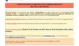 Subvenciones a Proyectos Empresariales de Villa de Mazo