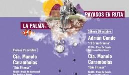 """Espectáculo de Circo y Humor """"Dúo Fitness"""" de la Compañía Manolo Carambolas en San Andrés y Sauces"""