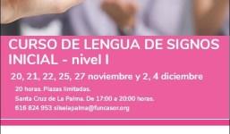 Curso de Lengua de Signos inicial- nivel I