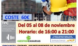 Curso TPC 20 h. Albañilería Puntagorda