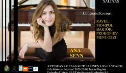 Ana Senn, desde Galicia, al piano