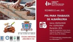 PRL para Trabajos en Albañilería