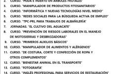 Cursos 2020- Ayuntamiento de Barlovento