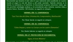 Actividades públicas del mes de Marzo 2020 Grupo Espirita de La Palma