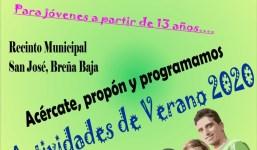 BREÑA BAJA: Se convoca a los jóvenes para planificar el verano