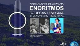 Fuencaliente inicia el festival cultural Enoritmos con un concierto en las Bodegas Teneguía