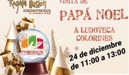 Papá Noel  visitará  la Ludoteca Colorines durante la mañana del 24 de diciembre en horario de 11:00 a 13:00.