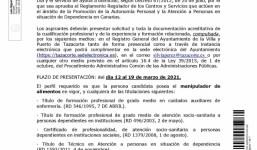 BOLSA DE EMPLEO AUXILIAR DE AYUDA A DOMICILIO Y DE AUXILIARES DE ENFERMERIA