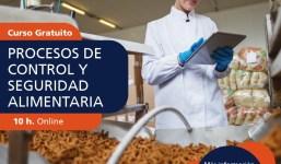 """Curso gratuito """"Procesos de Control y Seguridad Alimentaria"""""""