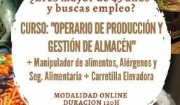 CURSO GRATUITO : OPERARIO DE PRODUCCION Y GESTION DE ALMACEN