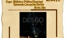 Breña Alta acoge la proyección 'Another Round' y la puesta en escena del monólogo 'Deseo'