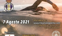 """Abiertas las Inscripciones para la """"VIII Travesía a Nado Isla de La Palma"""" a celebrar el 7 de agosto 2021"""