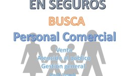 Empresa líder en seguros busca personal comercial