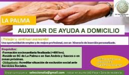 Auxiliar Sociosanitario para atención en Domicilio URGENTE (2 plazas)