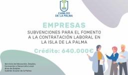 SUBVENCIONES PARA EL FOMENTO A LA CONTRATACIÓN LABORAL EN LA ISLA DE LA PALMA 2021