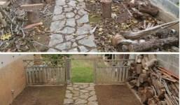 Limpieza de jardines y exteriores en general