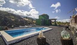 Casa con vistas y piscina en Todoque