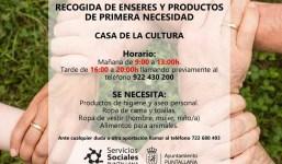 Recogida de enseres y productos de primera necesidad en Puntallana