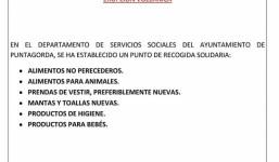 Recogida de Ayuda Solidaria Damnificados por la Erupción Volcánica