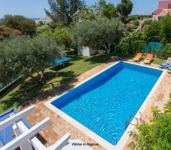 Villa Emilio Pequeno in Forte São João, Albufeira, 2 bedrooms, 3 minutes walking from beach, huge garden and private pool
