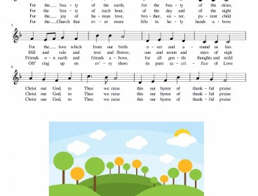 For the Beauty of the Earth (Songsheet)