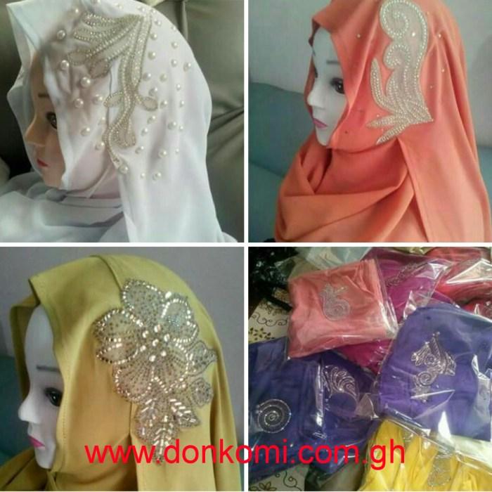Pinless hijab