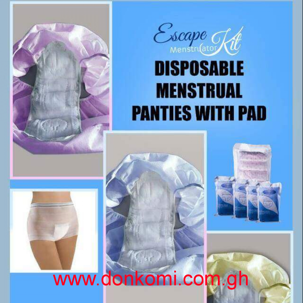 Disposable Menstrual panties with pad