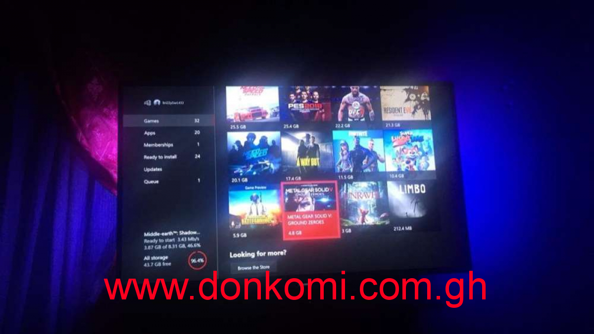 All Xbox one Games Avaliable