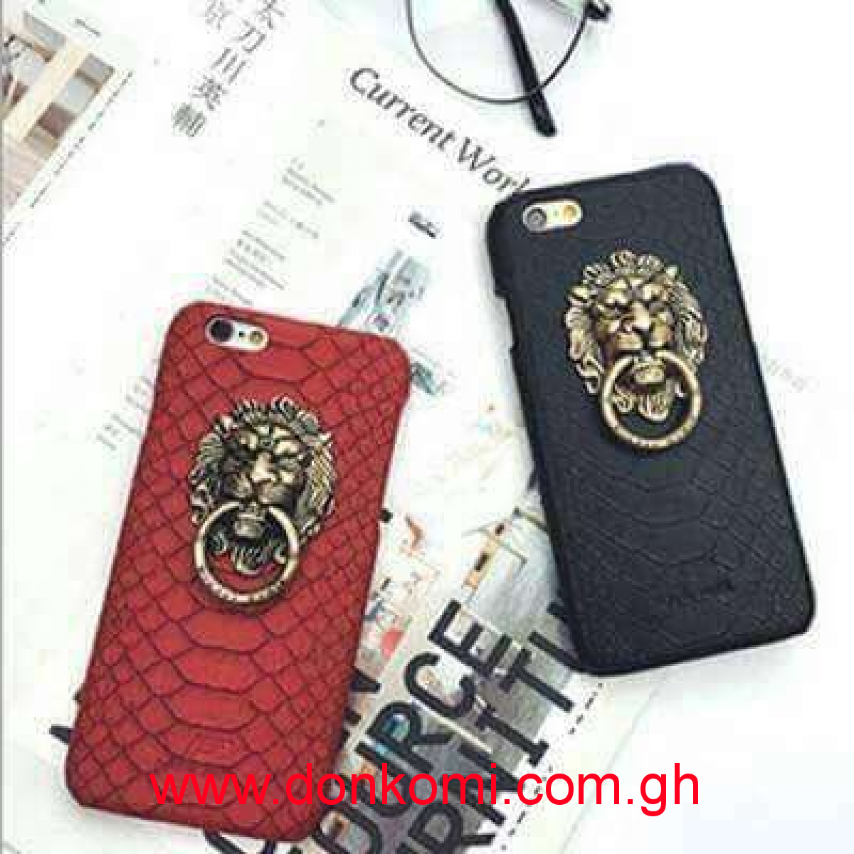 Lion Leather Skin Case for your IPhones