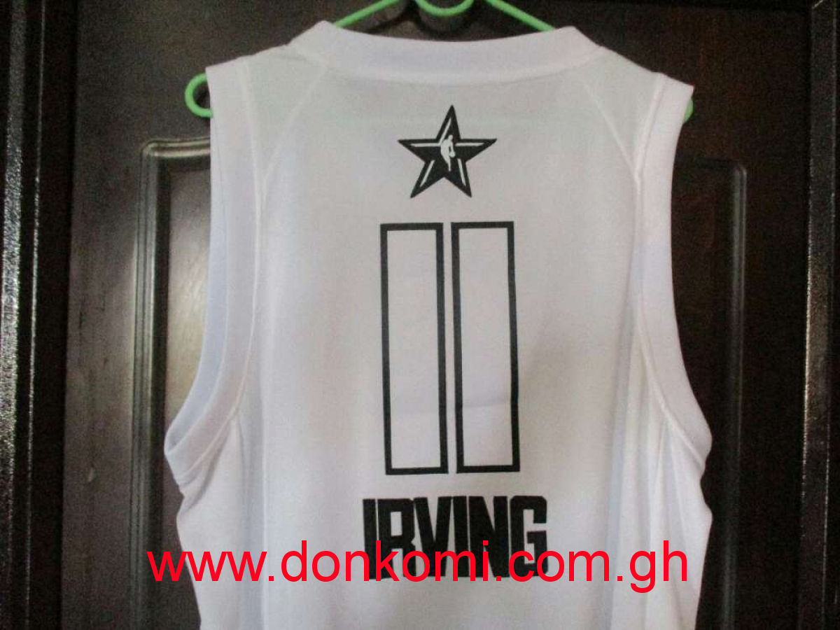 Kyrie Irving All Star NBA Basketball Jersey(White)