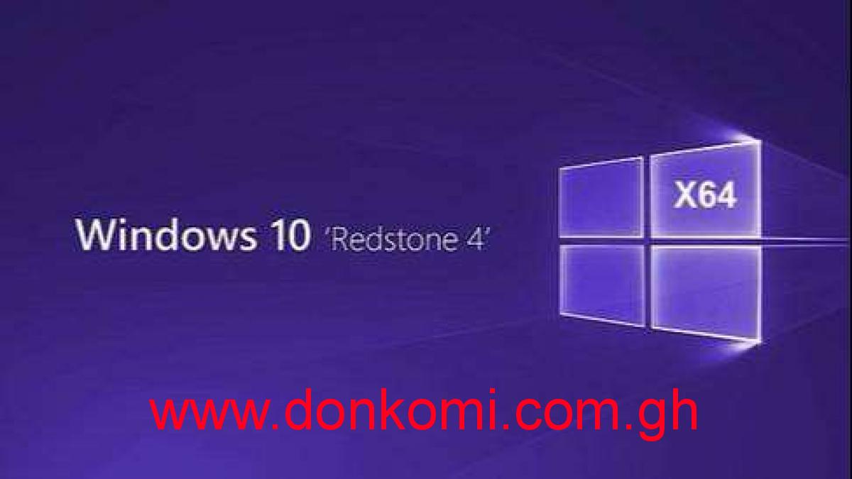 Windows 10 Pro  Redstone 4 v18