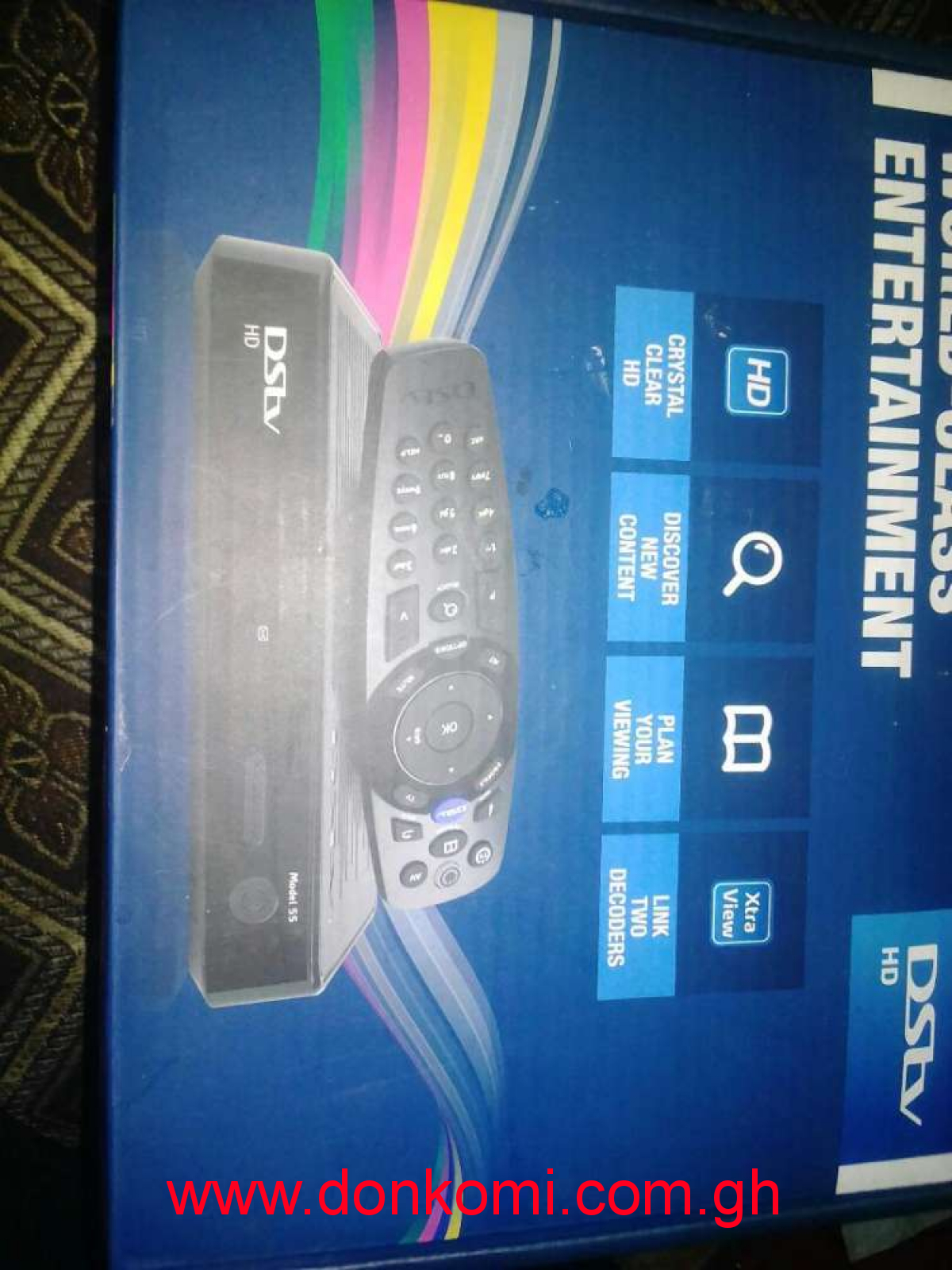 1:month used DSTV decoder fresh in the box with account