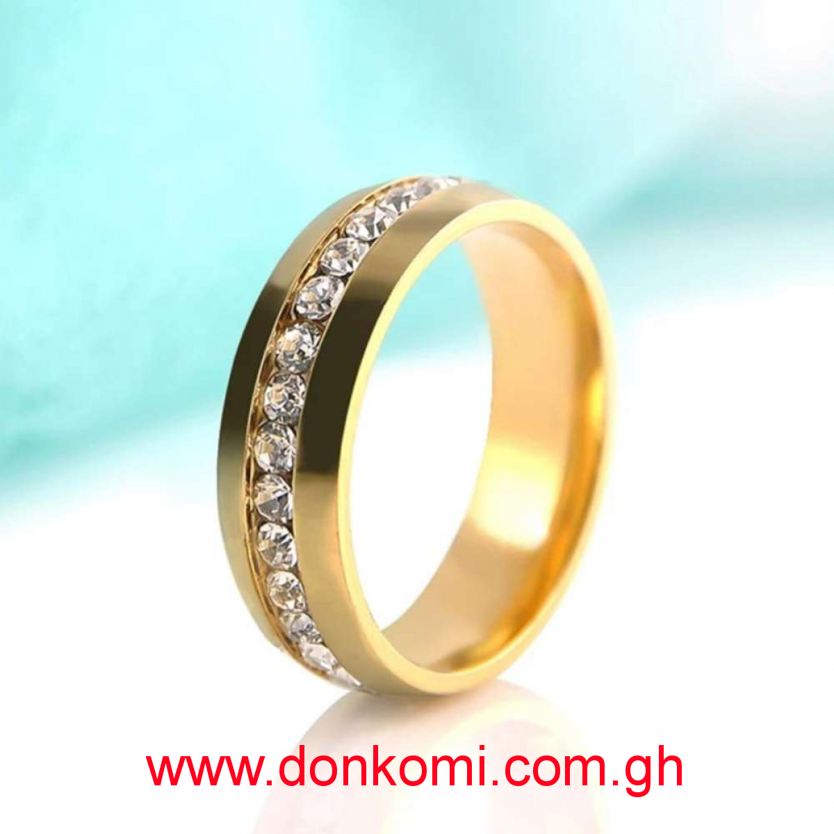 Ladies 14K Gold Plated Rings with Swarovski Crystals