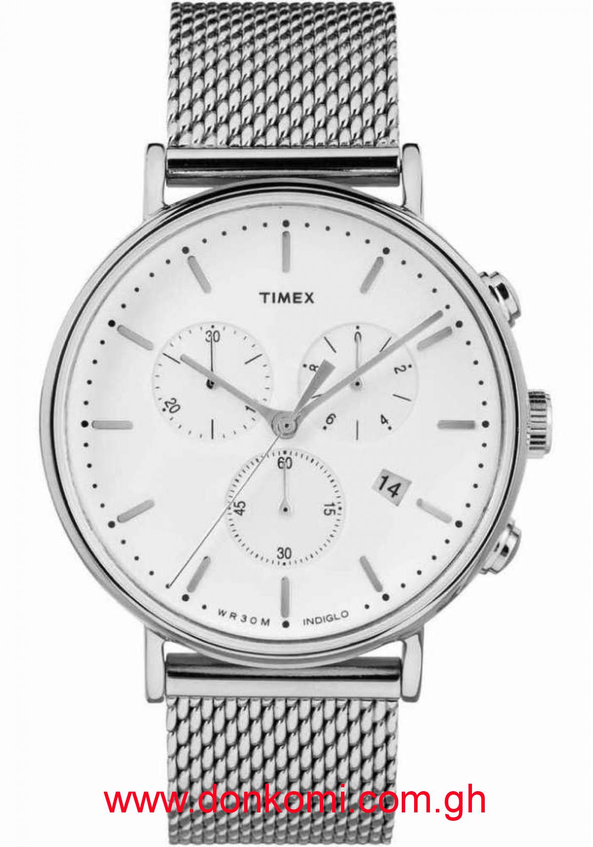 Timex Silver Chain watch