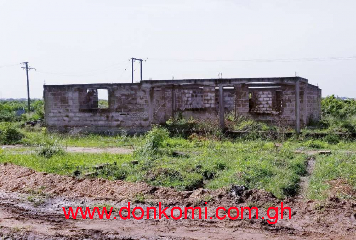Land with uncompleted house