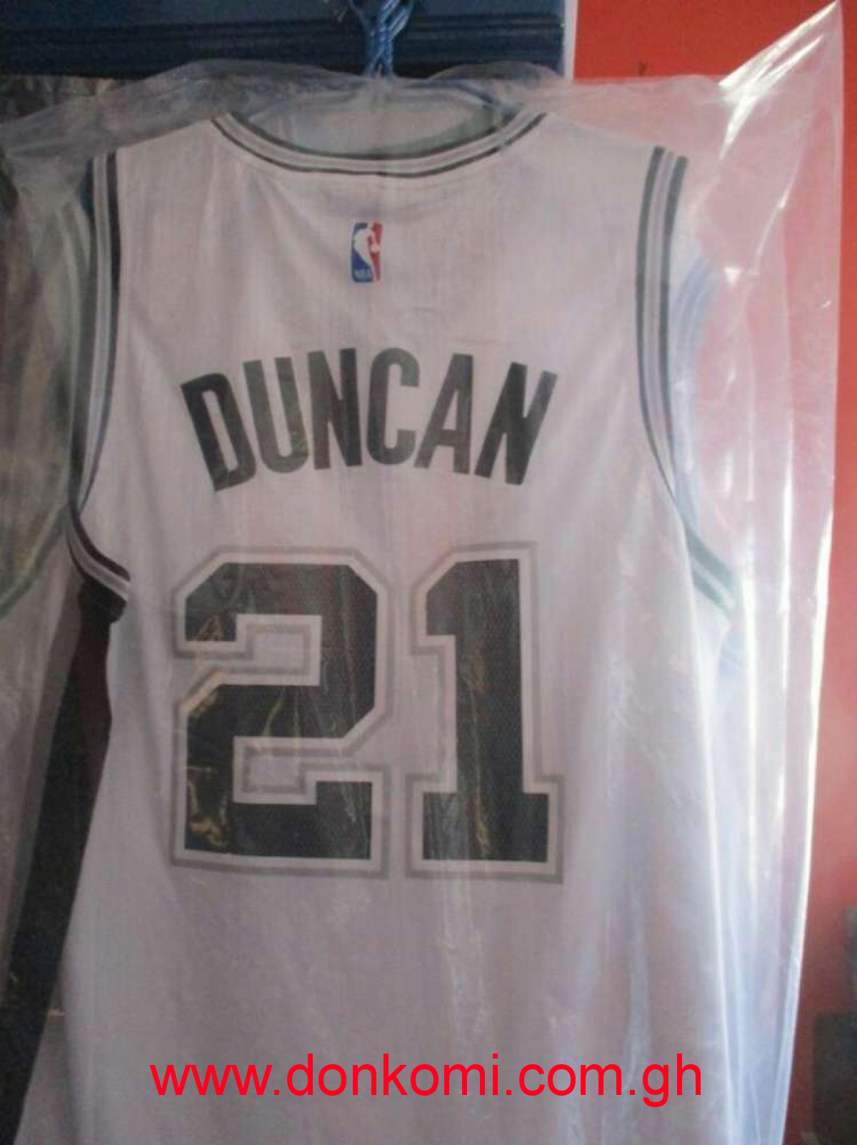 Tim Duncan NBA Jersey(White)