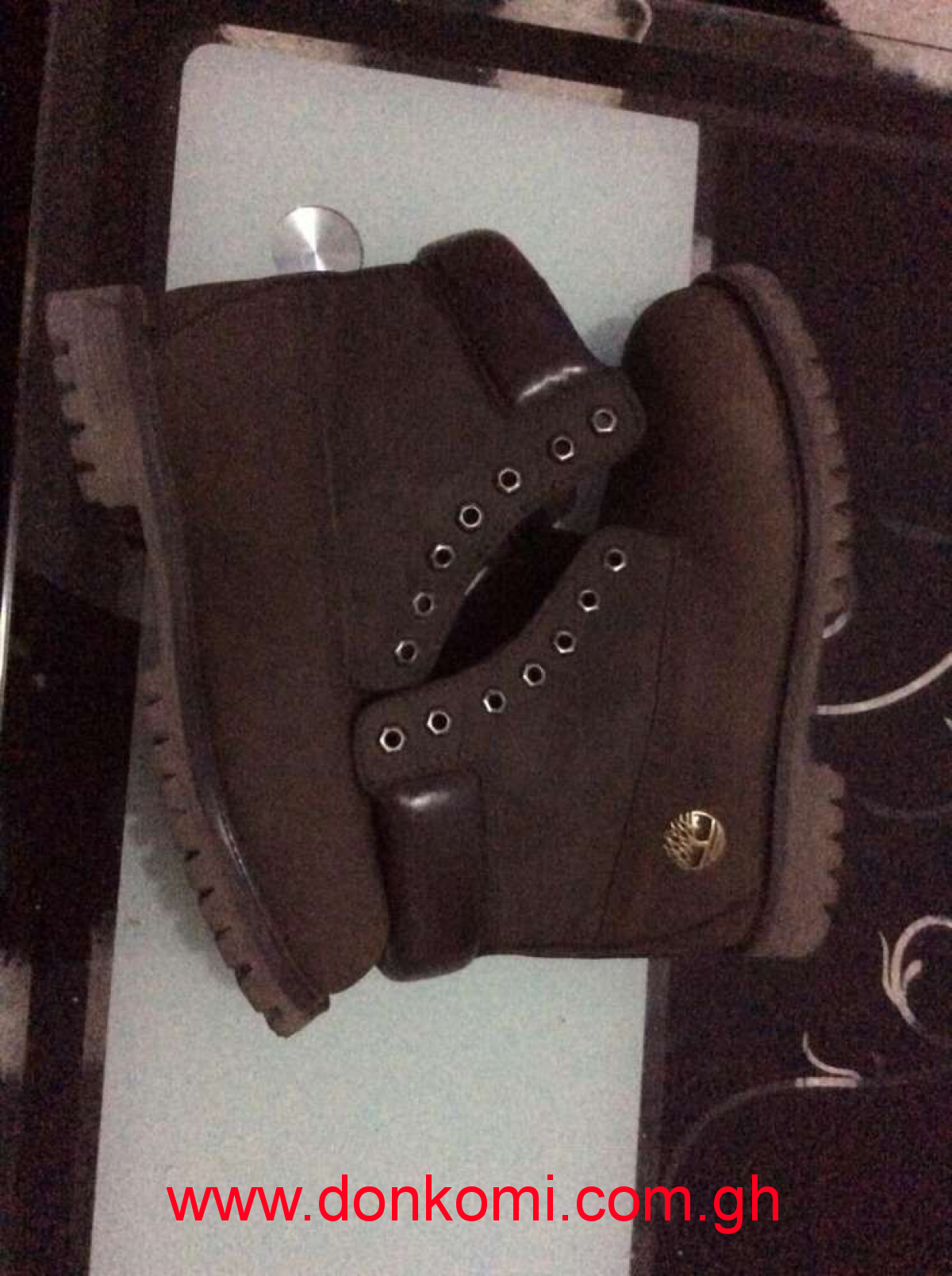 Leather Timberlands